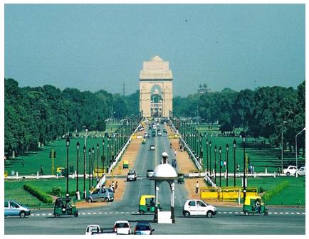 """ลาน """"ราชภัฐ"""" เมือง นิวเดลลี ประเทศอินเดีย"""